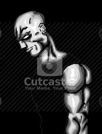 Strong Man stock vector clipart, Strong Man