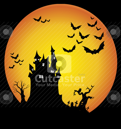 Halloween night stock vector clipart, Halloween night  by zabiamedve