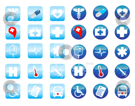 Medical icons stock vector clipart, medical icons by zabiamedve