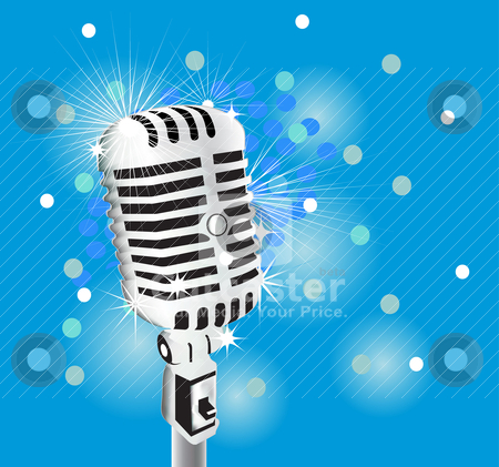 Microphone stock vector clipart, microphone by zabiamedve