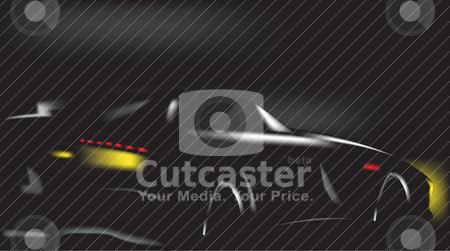 Car on black stock vector clipart, Car on black by zabiamedve