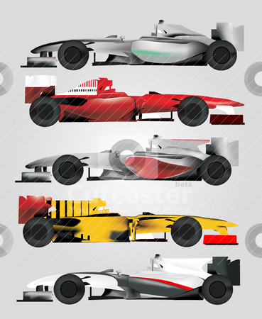 Race Car Vector stock vector clipart, Race Car Vector by zabiamedve