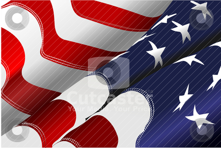 4th July – Independence day of United States of America. Ameri stock vector clipart, 4th July – Independence day of United States of America. American flag. Vector by Leonid Dorfman