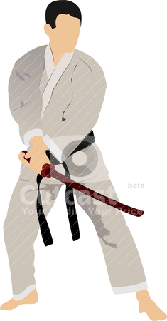 Karate silhouettes stock vector clipart, Karate silhouettes. Vector illustration by Leonid Dorfman