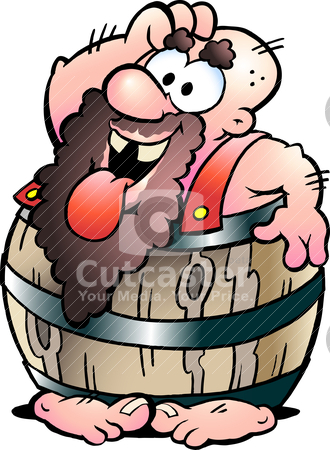 Hand-drawn Vector illustration of an Barrel Man stock vector clipart, Hand-drawn Vector illustration of an Barrel Man by DrawShop - Poul Carlsen