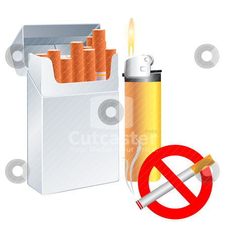No smoking stock vector clipart, no smoking by pkdinkar