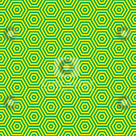Retro seventies green pattern stock vector clipart, Green and yellow retro seventies inspired wallpaper pattern by Michael Travers