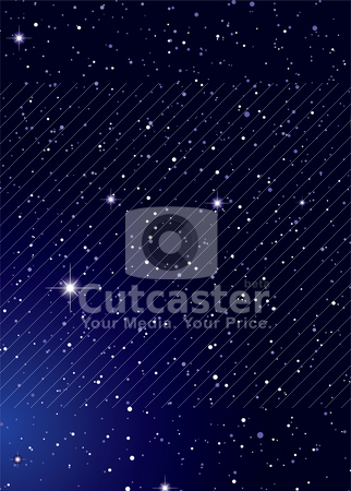 Nights sky stock vector clipart, Dark nights sky with stella galaxy and twinkle stars by Michael Travers