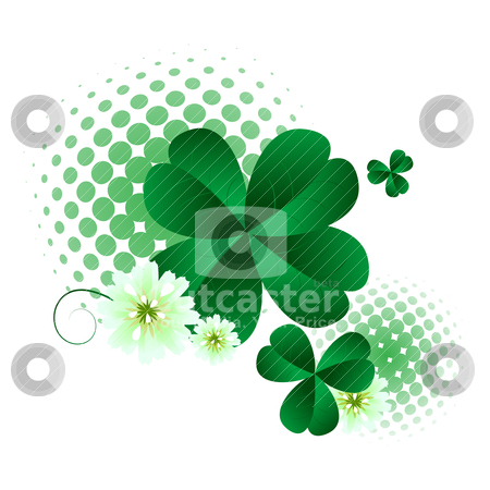 St.Patrick's Day design stock vector clipart, Floral design elements for St.Patrick's Day  by Richard Laschon