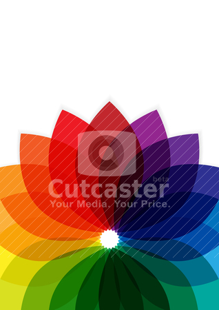 Abstract Background stock vector clipart, Abstract Background - Multicolor Shapes on White Background by JAMDesign