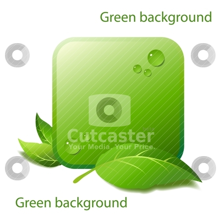 Green background stock vector clipart, Design of an element of background for natural products by Mikhail Puhachou