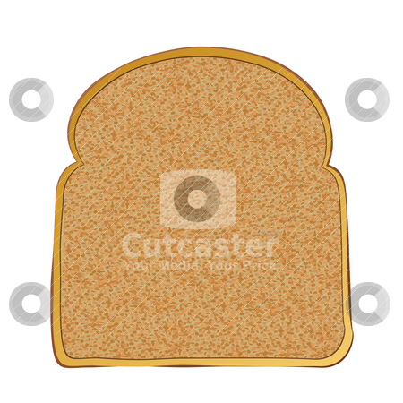 Slice of toast stock vector clipart, Slice of wholemeal toast with space for text by Michael Travers