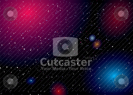 Space landscape rainbow stock vector clipart, Rainbow of colours captured in this deep space landscape by Michael Travers