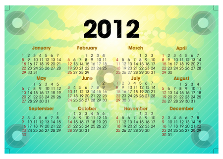 Creative 2012 calender template Vector Illustration - Download ready