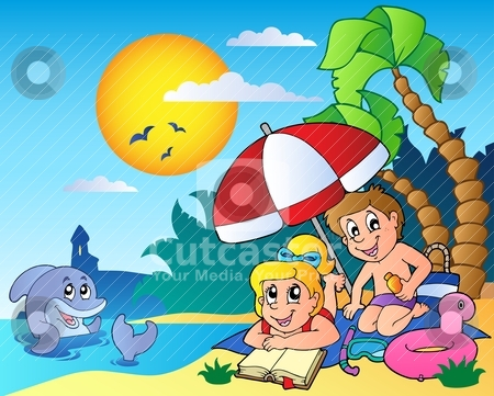 Summer theme image 6 stock vector clipart, Summer theme image 6 - vector illustration. by Klara Viskova