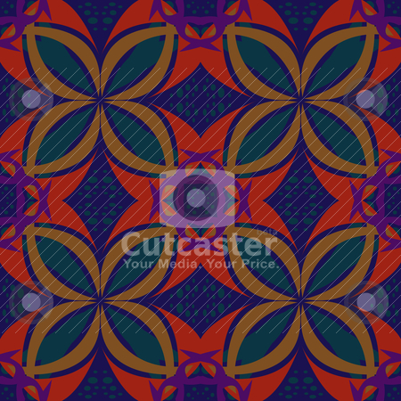 Bird Pattern stock vector clipart, Seamless background wallpaper pattern from birds and Arabic letter zayn. by Eric Basir