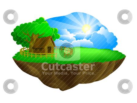 Conceptual landmass stock vector clipart, conceptual landmass by scorpydesign