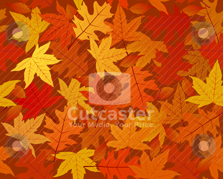Autumn leaves seamless pattern stock vector clipart, Autumn leaves seamless pattern. Eps 8, RGB with global colors illustration by wingedcats