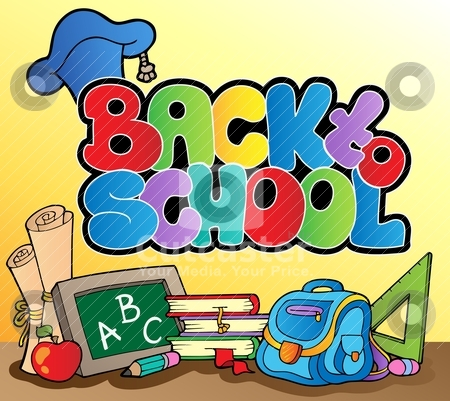 Back to school topic 1 stock vector clipart, Back to school topic 1 - vector illustration. by Klara Viskova