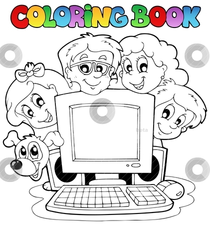 Computers Colors Coloring Book Computer And