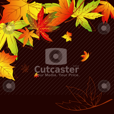 Abstract autumn leaves background stock vector clipart, Abstract colorful autumn leaves background by meikis
