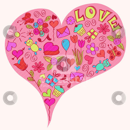 Big heart. stock vector clipart, St valentine's big heart. EPS 8 RGB global color illustration. by wingedcats