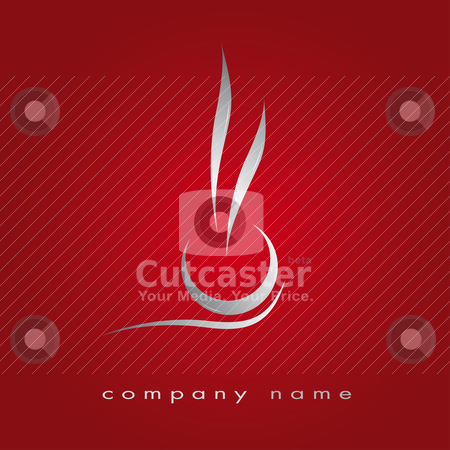 Menu in red, cup and smoke stock vector clipart, Illustration for cooking business, fast food, coffee, espresso by tristanbm