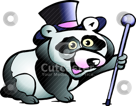 Hand-drawn Vector illustration of an Panda Bear stock vector clipart, Hand-drawn Vector illustration of an Panda Bear by DrawShop - Poul Carlsen
