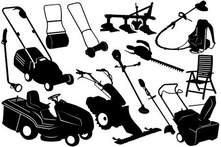 Tools And Equipment Garden Stock Vector