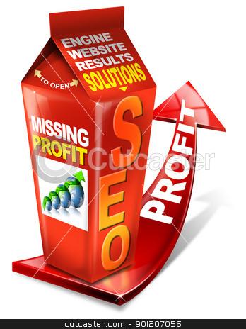 Carton SEO missing profit stock photo, Carton SEO missing profit - Search engine optimization web by catalby