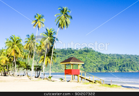 cabin on the beach; Maracas Bay; Trinidad stock photo, cabin on the beach, Maracas Bay, Trinidad by Richard Semik