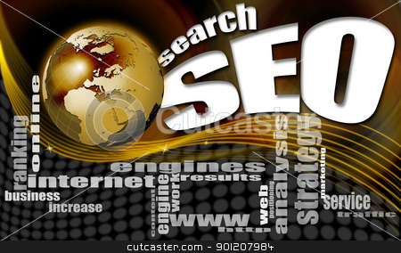 SEO search world background stock photo, background seo - search engine optimization web, word cloud and world by catalby