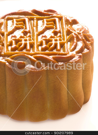 traditional chinese mooncake stock photo, close up of chinese traditional mooncake by zkruger