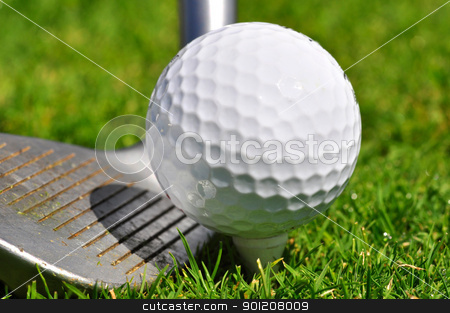 Golf ball and driver stock photo, Golf ball and driver, ready to strike by ruigsantos