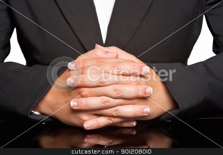 Business Woman stock photo, Business woman waiting with fingers crossed by ruigsantos