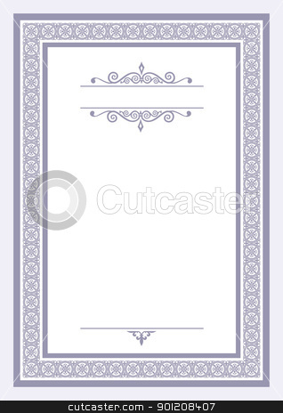 Certificate template stock vector certificate template yelopaper Choice Image
