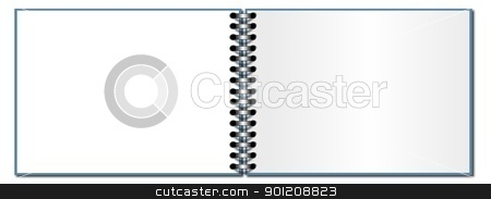 Open Book stock photo, Open ring book on a white background by Henrik Lehnerer