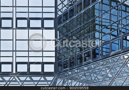 Building Exterior stock photo, blue Building Exterior in a Downtown District by sielemann