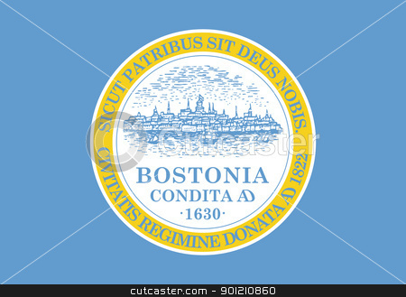 Boston city flag stock photo, City flag of Boston city in the U.S.A.  by Martin Crowdy