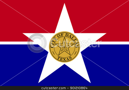 Dallas city flag stock photo, Flag of Dallas city,Texas in the U.S.A  by Martin Crowdy