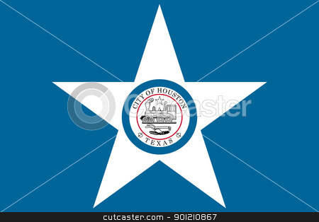 Houston city flag stock photo, Flag of Houston city in the U.S.A by Martin Crowdy