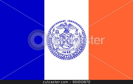 New York city flag stock photo, Flag of New York city in the U.S.A  by Martin Crowdy