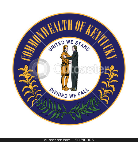 Kentucky state seal stock photo, Seal of American state of Kentucky; isolated on whiite background. by Martin Crowdy
