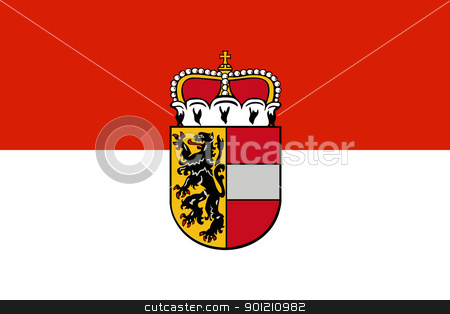 Salzburg city and state flag stock photo, State flag of the city and state of Salzburg in Austria.  by Martin Crowdy