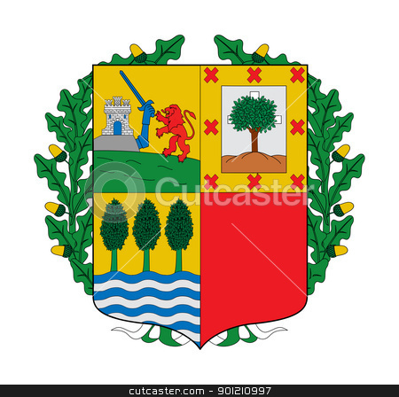 Spanish Basque coat of arms stock photo, Spanish province of Basque coat of arms; isolated on white background. by Martin Crowdy