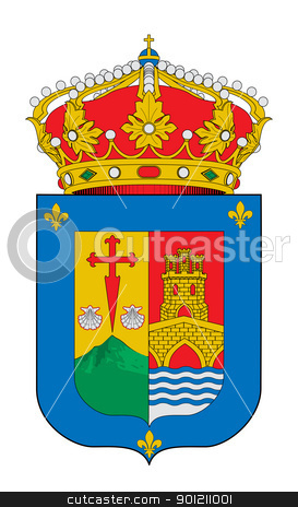 Spanish La Rioja coat of arms stock photo, Spanish province of La Rioja coat of arms; isolated on white background. by Martin Crowdy
