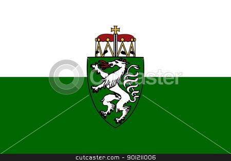 Steiermark or Styria state flag in Austria stock photo, Austria state of Steiermark of Styria state flag, Austria. by Martin Crowdy