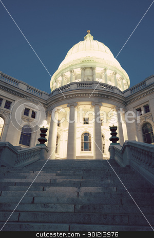 State Capitol Building in Madison, Wisconsin stock photo, State Capitol Building in Madison, Wisconsin, USA by Henryk Sadura