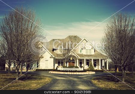 Luxury suburban house stock photo, Luxury suburban house seen spring time by Henryk Sadura