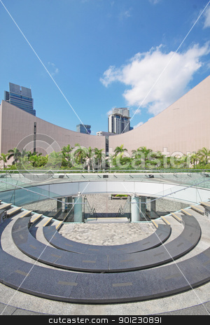 Architecture structure of Hong Kong Cultural Centre over blue sk stock photo, Architecture structure of Hong Kong Cultural Centre over blue sky  by Keng po Leung